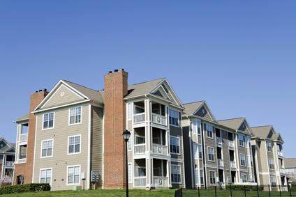 Typical apartment building in suburban area